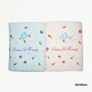 《現貨》台灣製純棉浴巾 超長纖維 瞬間吸水 LIUKOO煙斗薔薇花浴巾
