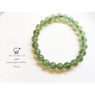 綠磷灰石/磷灰石/水晶手鍊/[晶晶工坊-love2hm]