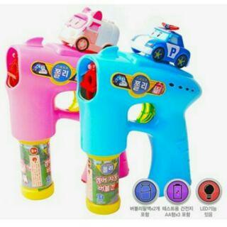 現貨韓國POLI救援小英雄LED炫光電動泡泡槍