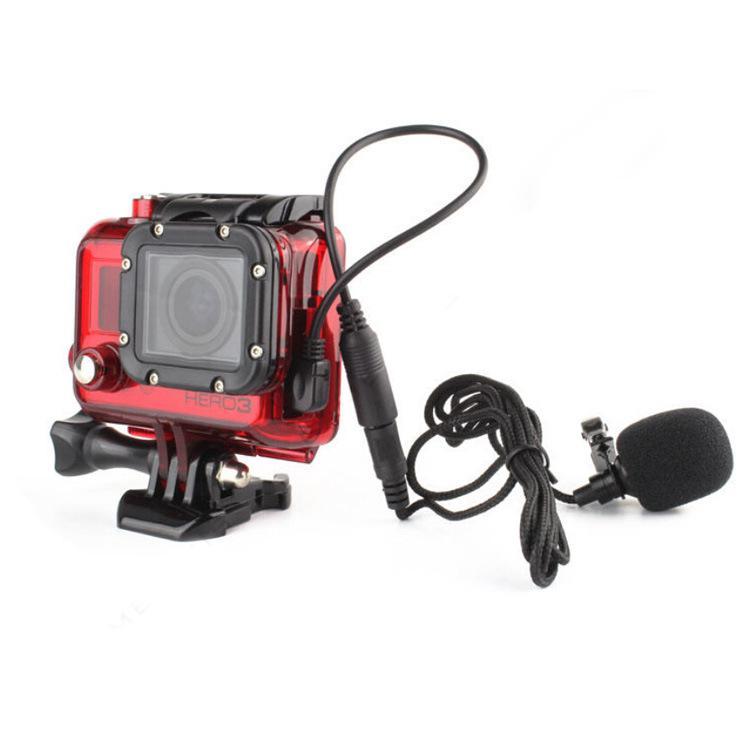 麥克風音頻轉接線單反相機話筒 轉接線 用於Gopro Hero 3/3+/4 3.5mm