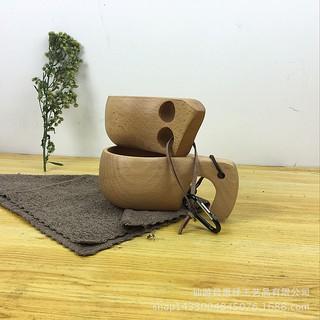 廠家直銷 外貿出口芬蘭kuksa木杯 櫸木象鼻/雙孔杯 咖啡廳用品