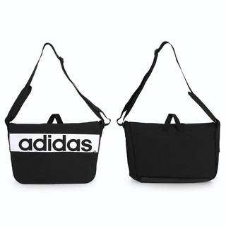 ADIDAS 運動側背包 (單肩包 斜肩包 旅行袋 愛迪達 黑白