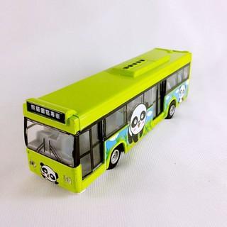仿真模型車 熊貓園區專車觀光巴士迴力合金車/合金巴士模型玩具車/遊覽車玩具/迴力車~ST安全玩具