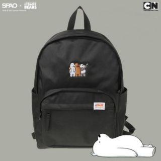 SPAO x CN 聯名 韓國限定 超大容量 後背包 9成新 熊熊遇見你