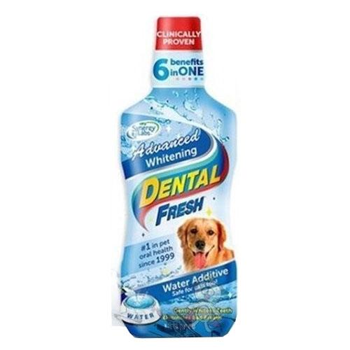 美國Dental Fresh《犬用-潔牙液(加強美白版)》8oz『WANG』