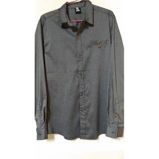 男生外搭襯衫 長袖 薄襯衫 二手 流行 灰色