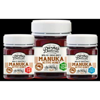 預購商品澳洲Barnes Naturals Manuka Honey5+10+15+(250g&500g)