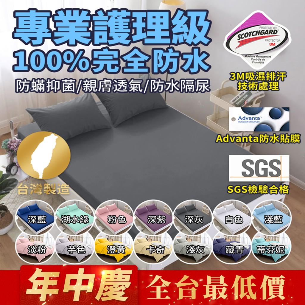 全台最低價工廠直售 3M專利+Advanta專利/100%防水保潔墊 超透氣防水床單/床包 四季通用單人/雙人/加大/