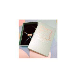 櫻桃小丸子xHello Kitty 首次聯名系列 限量蝴蝶結皮繩手鍊-銀