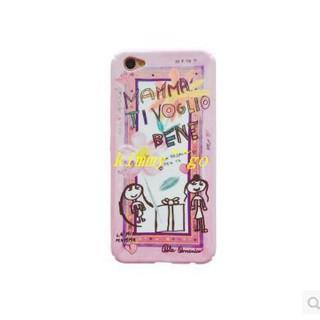 yy199好貨廠家直銷韓國粉色卡通塗鴉女孩oppo r9s手機殼r9/R11 plus全包保護套硬殼