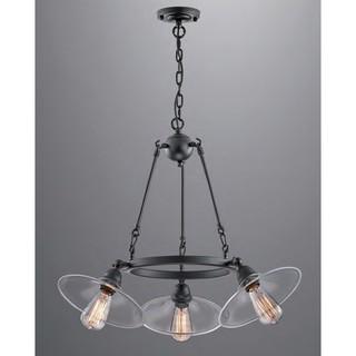loft工業風吊燈 清光玻璃三燈