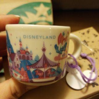 星巴克Starbucks 迪士尼 Disneyland迷你杯 YAH 城市杯