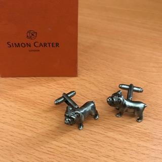 SIMON CARTER 立體英國鬥牛犬襯衫袖扣 /法國鬥牛犬