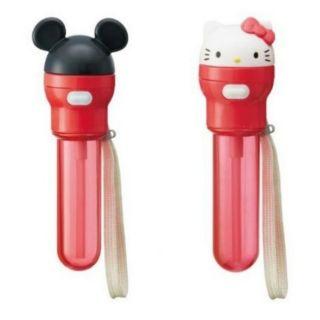 米奇 kitty 日本 寶特瓶專用吸管 附收納盒 現貨