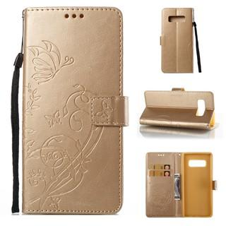 三星Note8 手機殼galaxy Note 8 插卡保護套壓印手機套防摔磁扣手機殼