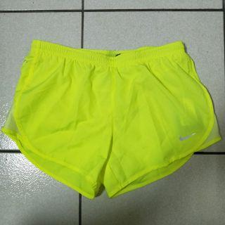 Nike 跑步 飄褲 螢光黃