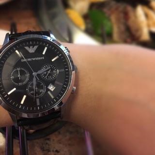 ARMANI阿曼尼經典三眼錶手錶