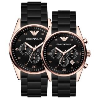 阿瑪尼(ARMANI)手錶情侶表非機械多功能三眼運動腕錶情侶手錶 AR5905/AR5906對錶