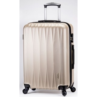 America Tiger 抗刮ABS鑽石紋24吋行李箱-米金色