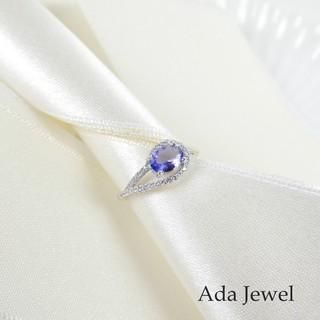 【Ada Jewel】丹泉石戒指-天然寶石/純銀鍍K金/活動戒圍
