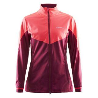 瑞典 CRAFT Soft shell 保暖外套(女) 玫瑰紅