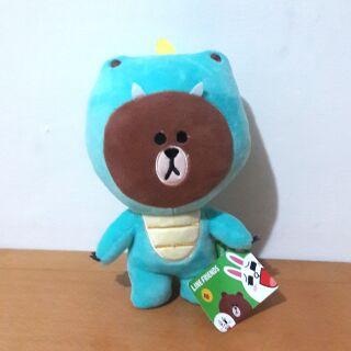 Line Friends 恐龍 變裝 熊大 中型 娃娃 抱枕 兔兔 莎莉
