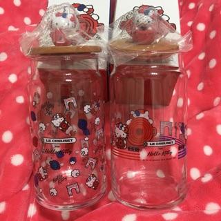 7-11 Hello Kitty立體公仔玻璃收納罐(2款)