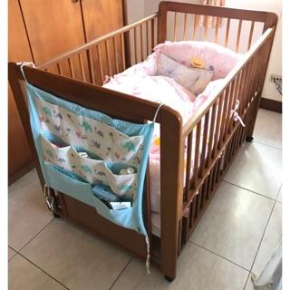 黃色小鴨 日式櫸木嬰兒床
