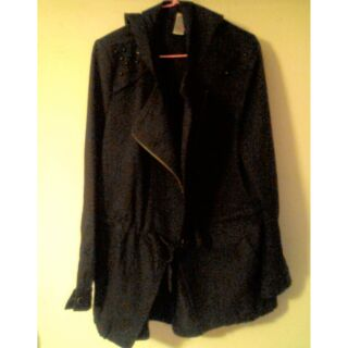 黑色外套 大翻領騎士外套 類似M51 龐克風