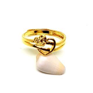 仿金戒指/24K電鍍黃金/愛心戒指/沙金/女戒/金戒指/戒指/愛心飾品/女生飾品/鍍金/電鍍/黃金/尾戒