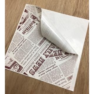 印刷版L袋 郵報15*15cm 美式漢堡三明治 輕食類包裝紙