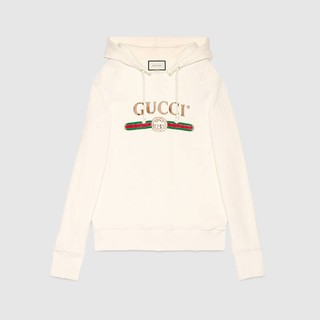 Gucci Embroidered 女生刺繡帽T