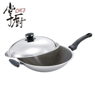 (福利品121)【掌廚】Cook Mate五層不鏽鋼中華炒鍋-36cm(KS-36S)