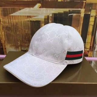 Gucci全白鴨舌帽