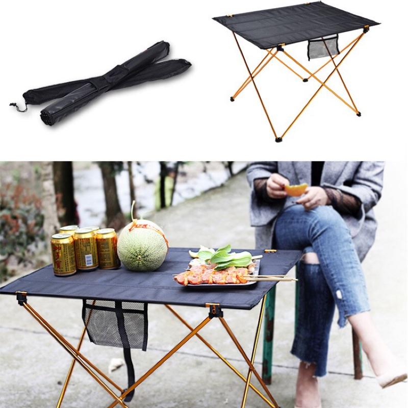 鋁合金折疊桌 布面桌戶外野餐桌登山露營桌輕便餐桌 捲簾桌 送收納袋