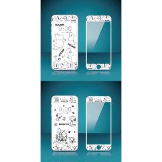 ❣️卡通史努比嚕嚕米姆明iphone 螢幕保護貼浮雕軟邊鋼