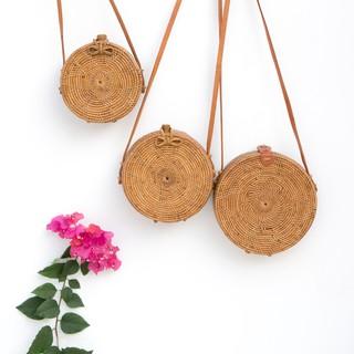 峇里島手工藤編圓形包現貨 藤編包 竹編包 編織包 圓形包 草編包 海灘包 巴里島 峇里島