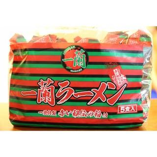 【清新小舖】【全新現貨】福岡限定 一蘭拉麵 之 一蘭泡麵 福岡限定版 拉麵包 日本 豚骨拉麵 (5包)