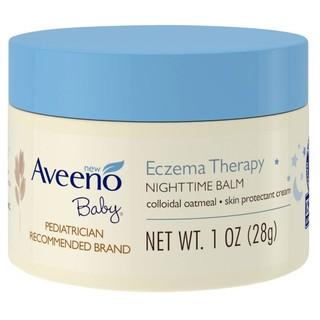Aveeno Active Naturals 燕麥寶寶夜間舒緩保濕乳膏無香異敏28g 隨身瓶