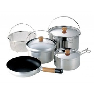 UNIFLAME Fan 5 DX 不鏽鋼/鋁合金鍋組 5人份 660232 居家|露營 炊事