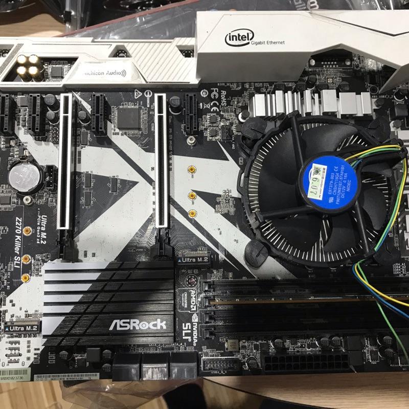 /*出清換錢*/ 二手 ASRock Z270 Killer SLI 超合金 主機板 附CPU RAM 測試用 無盒