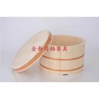 金新豪華飯桶木桶保溫飯桶銅邊木飯桶盆 壽司木桶 木盆日料店餐具