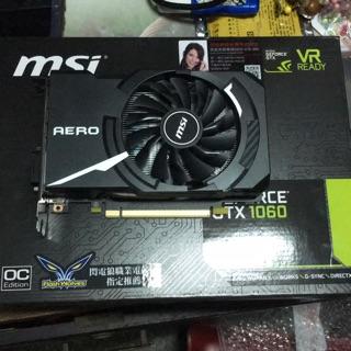 已預訂 求售 二手 MSI 微星 GeForce GTX 1060 AERO ITX 3G OC PCI-E 獨立顯示卡