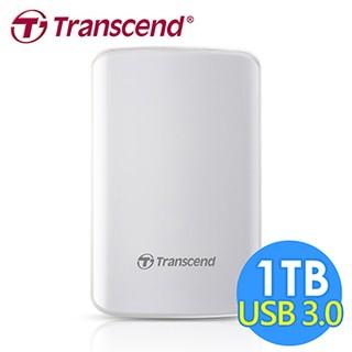 創見 StoreJet 1TB 25D3 USB3.0 2.5吋行動硬碟(TS1TSJ25D3W)-白色