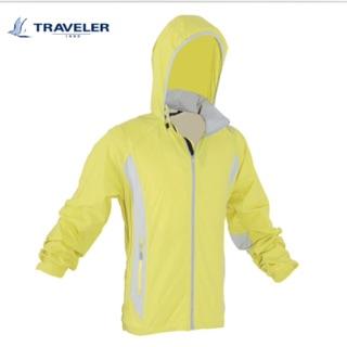 Traveler 防風 防波水 抗UV 外套 薄外套 芥末黃