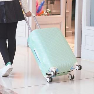 行李箱保護套 行李箱套 馬卡龍色斜紋行李箱保護套 L碼【SV8032】HappyLife