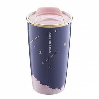 星巴克星空夜櫻雙層馬克杯