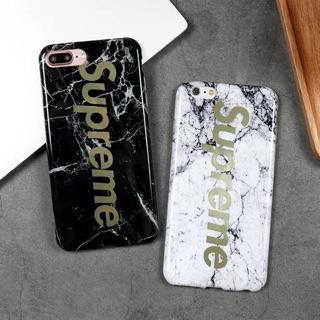 iphone x 翻玩潮流品牌SUPREME 燙金手機殼i8 ,i6s 保護殼,全包防摔軟