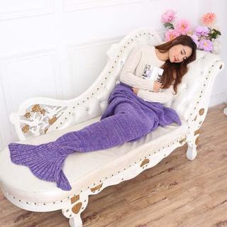 軟妹必備 美人魚針織毯 超保暖 人魚毯 寒流 美人魚毯懶人毯針織毛毯保暖毯交換禮物