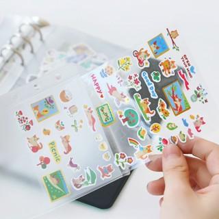 時尚家居簡約風貼紙收納冊 膠帶貼紙活頁收納冊A5創意貼紙膠帶手帳收納